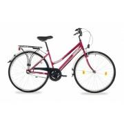 """Schwinn Csepel Landrider női agyváltós városi kerékpár 17"""" Piros"""