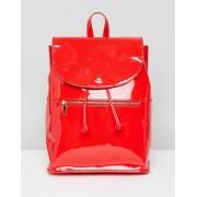 ASOS Мягкий лакированный рюкзак с молнией ASOS - Красный
