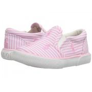 Polo Ralph Lauren Bal Harbour Repeat (Little Kid) Pink Stripe PoplinPink Pony Player