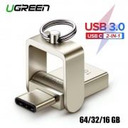 Ugreen USB Flash Drive 3.0 USB C OTG Pendrive 64 32 GB Voor Samsung Galaxy S9 Plus Note 9 Voor xiaomi Redmi5 Memory Stick Pen Drive - 64GB