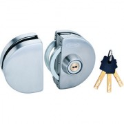 Spider Glass Door Lock Semi Circle Lock with SS Finish One Side Knob one Side Key( GDL01R)