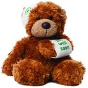 Aurora Bears Bonnie Get Well Bear Plush, Dark Brown (9-inch)