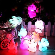 Purami LED Squishy Unicorn 10pcs String Light 20*10*8CM Decoration Valentines Gift Collection Toys