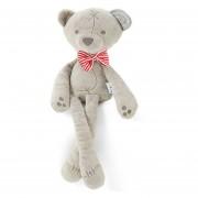 Muñeca de juguete de felpa de oso largo de pies largos para Niño Bowtie rosado