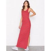 NLY Trend Classy Maxi Dress Maxiklänningar Röd/Vit