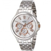 Casio Analog Silver Round Watch -MTP-E308D-7AVDF(A1050)