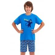 Damian fiúpizsama, kék, majmos 146