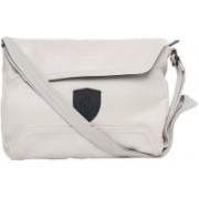 Puma Ferrari LS Small Satchel Sling Bag(White, 2 L)