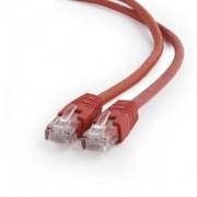 Cablu de retea Gembird UTP Cat6 Patch cord, 2m, Red, PP6U-2M/R