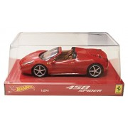 Ferrari 458 Spider Red Hotwheels 1:24th