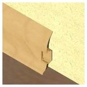 PBC605 - Plinta LINECO din PVC culoare fag inchis pentru parchet - 60 mm