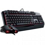 Cooler Master Devastator II, геймърска клавиатура с мишка, червена подсветка, 2000 dpi, USB, черни