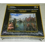 "2012 national geographic puzzle rialto bridge on the grand canal venice italy 750 piece puzzle 24""w x 18"" h"