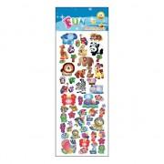 Merkloos Kado stickers diverse dieren