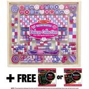 Deluxe Collection Wooden Bead Set (340+ beads) + FREE Melissa & Doug Scratch Art Mini-Pad Bundle [94931]