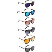 Aoking Wayfarer Sunglasses(Violet, Blue, Brown, Grey, Orange, Black)