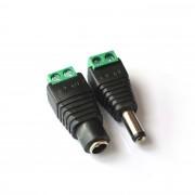 DC 5.5x2.1 screw terminal plug socket pair
