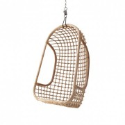 Fotel wiszący HANGING CHAIR NATURAL RAT0023 HK Living naturalny ratanowy podłużny fotel wiszący