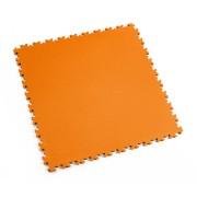 Oranžová vinylová plastová dlaždice Light 2060 (kůže), Fortelock - délka 51 cm, šířka 51 cm a výška 0,7 cm