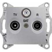 SEDNA TV-R-SAT aljzat átmenő 4 db IP20 Alumínium SDN3501460 - Schneider Electric