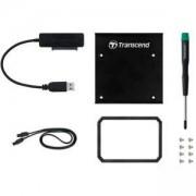 Комплект за диск Transcend SSD Conversion Kit SATA/USB, Черен, TS-CK3
