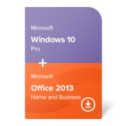 Microsoft Windows 10 Pro + Microsoft Office 2013 Home and Business (W10-O13-ESD) електронен сертификат