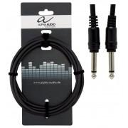 Cablu Patch Alpha Audio 1 x 6.3mm Jack Mono-1 x 6.3mm Jack Mono 0.1m
