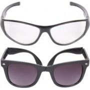 Aligatorr Wayfarer, Retro Square Sunglasses(Clear, Black)