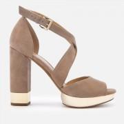MICHAEL MICHAEL KORS Women's Valerie Platform Heeled Sandals - Dark Khaki - UK 3/US 6 - Beige