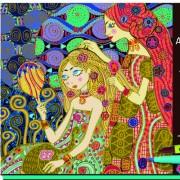 Atelier de arta Djeco Art nouveau, joc creativ pentru fetite cu planse de decorat