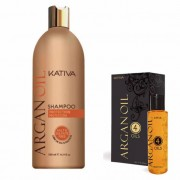 Kativa Argan Oil Pack: Champú (500ml) + Oil 4 Oils (120ml)