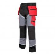Pantaloni lucru grosi premium, 24 buzunare, cusaturi triple, benzi reflectorizante, marime 2XL