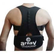arnav Unisex Magnetic Posture Corrector Support Braces Shoulder Correction Lumbar Back Support Adjustable Belt