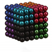 EH Imán Magic Bolas 216pcs Juego de Puzzle magnético 5mm multicolor