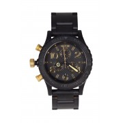 Nixon - Часовник Chrono Matte Black/Gold