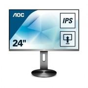 MONITOR LED IPS 23.8 AOC I2490PXQU/BT NEGRO/PLATA