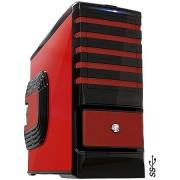 GABINETE GAMER VERMELHO PC YES - 4 BAIAS