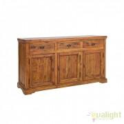Comoda din lemn de salcam design rustic CHATEAUX 3DO-3DR 0742745 BZ