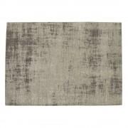 Maisons du Monde Alfombra gris de algodón 200 × 290 cm FEEL