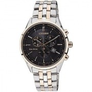 Citizen Quartz Black Dial Mens Watch-AT2144-54E