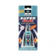 Adeziv instant universal cu dozator manual Bison Super Glue Rocket 3 g
