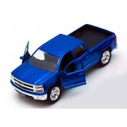 Chevy Silverado Pickup Truck, Blue Jada Toys Just Trucks 97017 1/32 Scale Diecast Model Toy Car