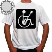 Camiseta Cadeirante Rockeiro