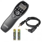 Neewer NW-880/E3 Mando a distancia por cable con temporizador, botón disparador y pantalla de cristal líquido (LCD) para cámaras digitales