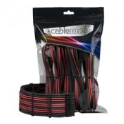Set cabluri prelungitoare CableMod PRO ModMesh, cleme incluse, Carbon/Red