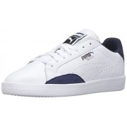 PUMA Women s Match Lo Basic Sports Sportstyle Sneaker Puma White/Peacoat 11 B(M) US