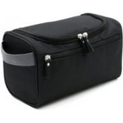 P Travel Men's Hanging Travel Toiletry Shaving/Wash Bag Travel Toiletry Kit(Black)