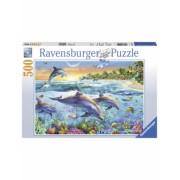 Puzzle Delfini, 500 Piese Ravensburger