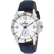 GIONEE MRT-024 Analog White Casual Wrist Watch for Men with Durable Leather Stripe.