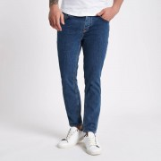 River Island Mens Mid Blue Jimmy tapered jeans (Size 28 short)